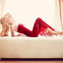 Red Beauty on Bed